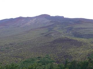 富士宮口からみえる山頂