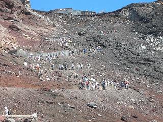 登山者の大行列