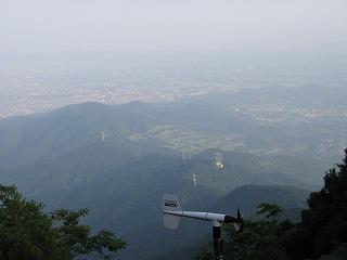 山頂からの景色の写真