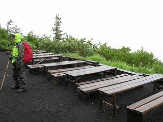 ガラガラの休憩スペース