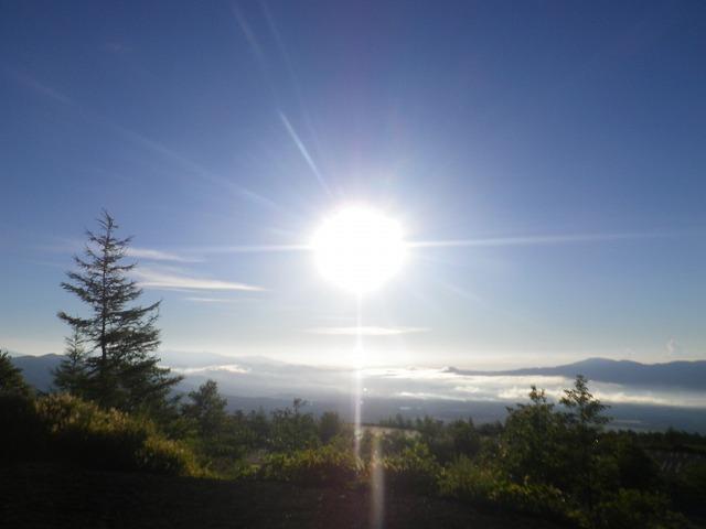富士山の御殿場口新五合目から見える朝日