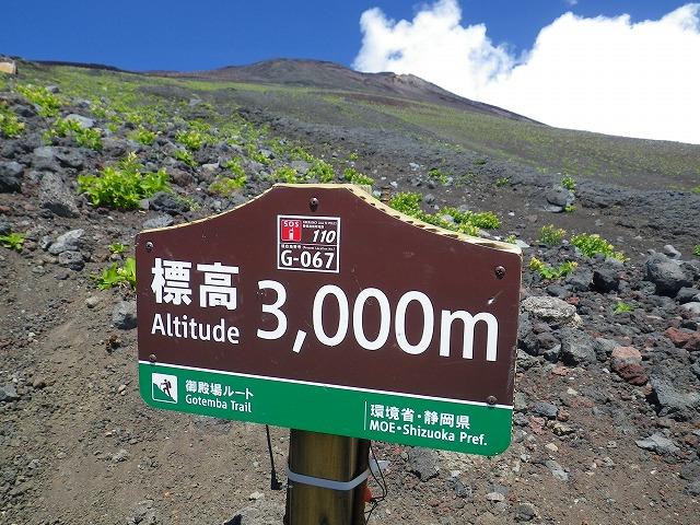 御殿場ルート 標高3000m