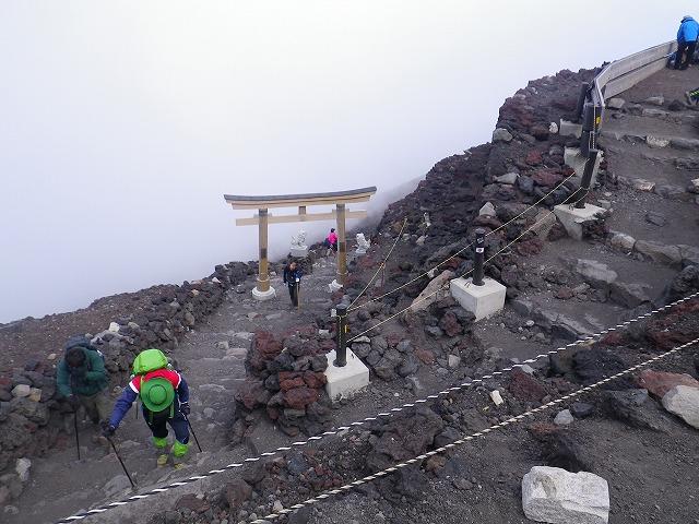 吉田口山頂