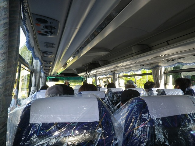 富士宮五合目へ向かうシャトルバス