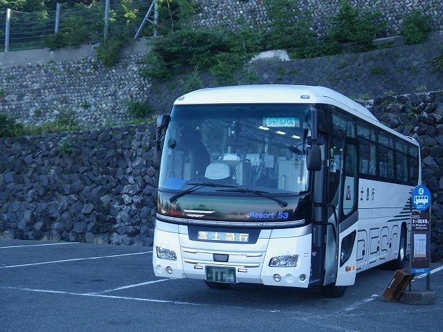 富士宮五合目へ向かう富士Qのシャトルバス