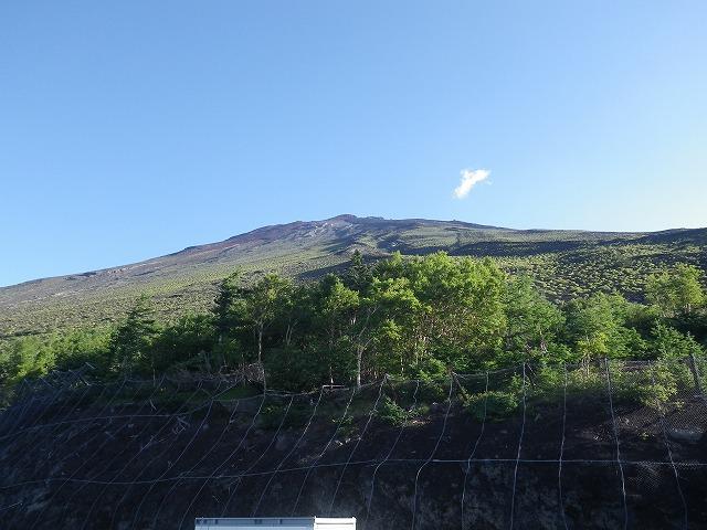 富士宮五合目から見える富士山