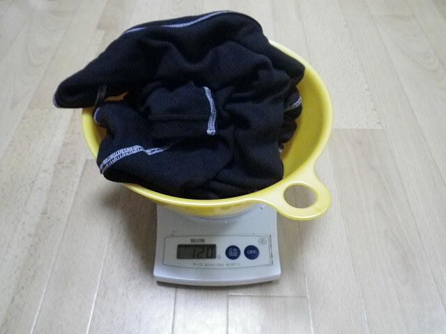 アンダーの重量測定