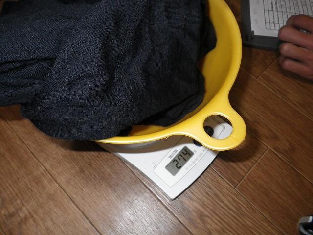 水分増加量測定
