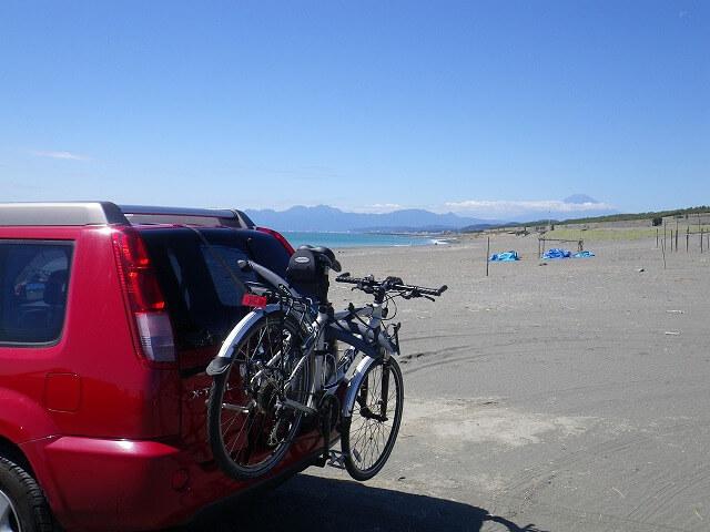 湘南海岸から富士山が見えた!