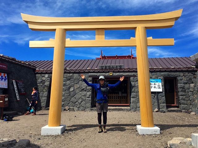 170731富士山山頂の浅間神社奥宮