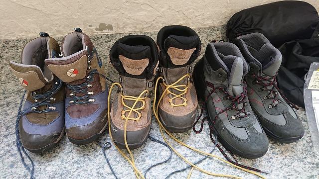 やまどうぐレンタル屋 登山靴 試着 履き比べ