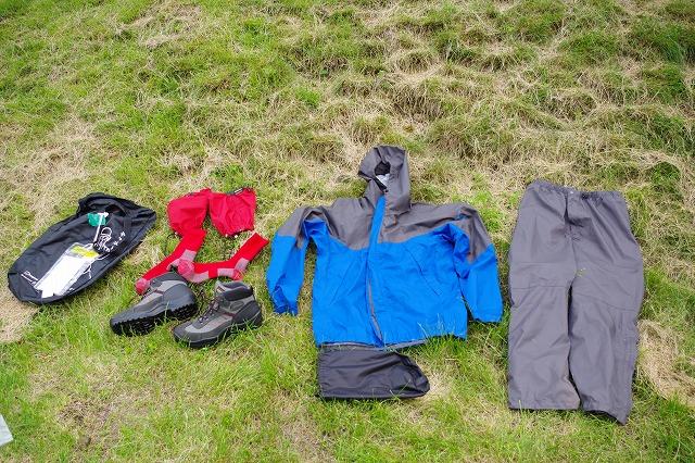 やまどうぐレンタル屋 登山靴 レインウェア ショートスパッツ 登山ソックス