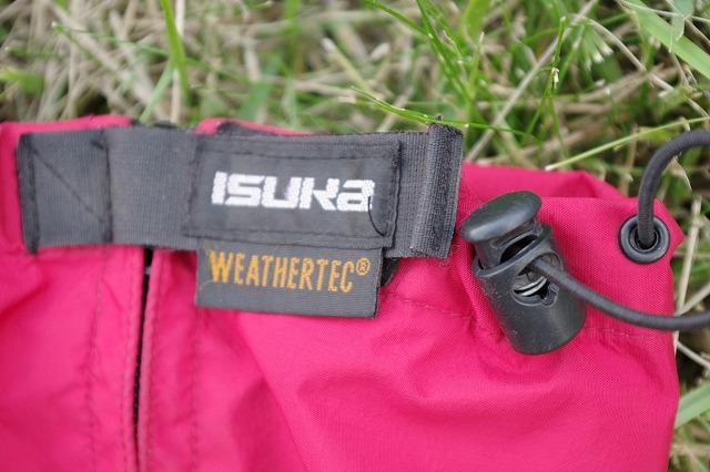 やまどうぐレンタル屋 登山靴 レインウェア ショートスパッツ 登山用ショートスパッツ イスカ(ISUKA) ウェザーテック ショートスパッツ (スパッツ ゲイター)