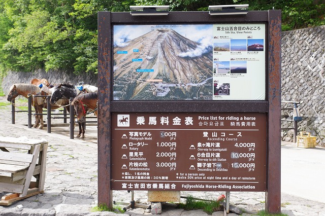 富士スバルライン五合目 乗馬