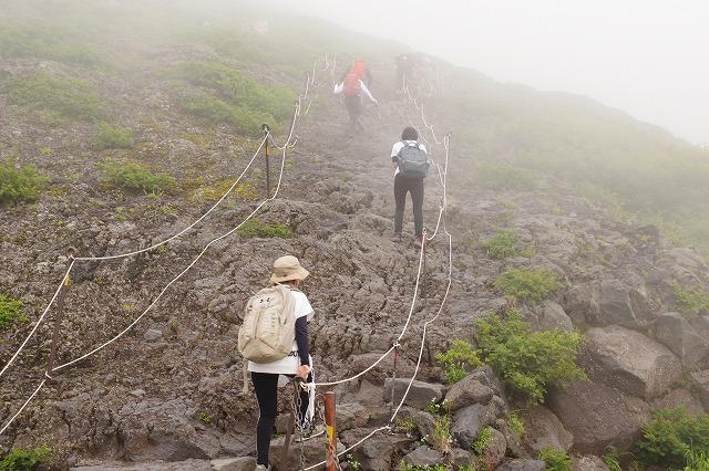 吉田ルート登山道(登りルート) 七合目~八合目