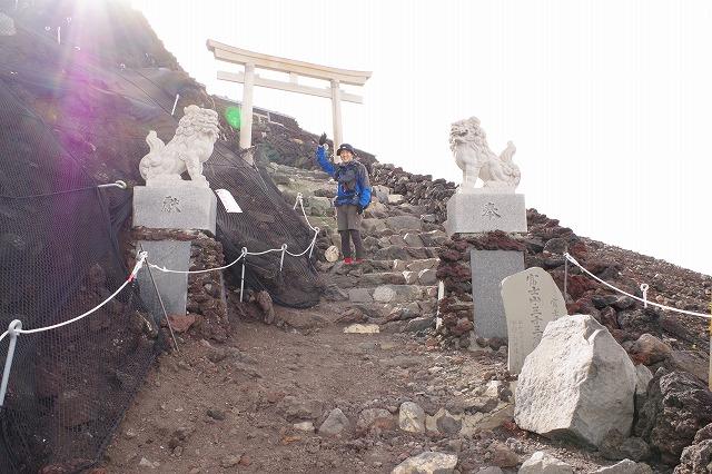 吉田ルート登山道(登りルート) 山頂