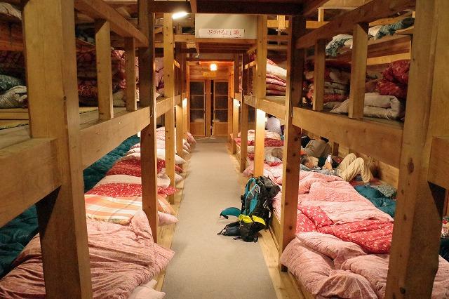 吉田ルート頂上にある山小屋、頂上山口屋で1泊宿泊