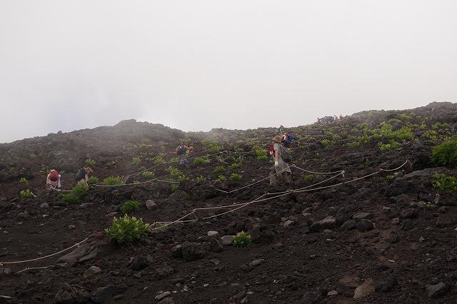 須走ルート登山道:七合目から本七合目