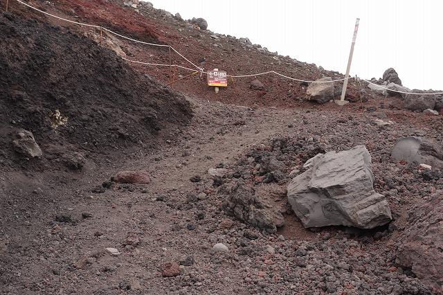 須走・吉田ルート登山道:本八合目へから九合目