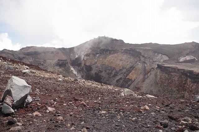 富士山火口、頂上お鉢めぐり