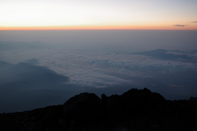 2018富士山の山頂のご来光