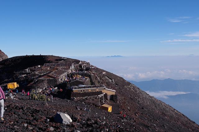 須走・吉田ルート下山道:山頂