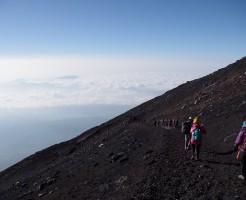 須走・吉田ルート下山道:山頂から本八合目の下江戸屋分岐へ