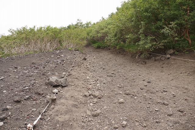 須走ルート下山道:砂走り-砂払い五合目