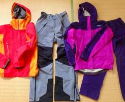 登山用レインウェア、雨具、カッパ