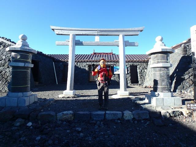 富士山 山頂 浅間神社奥宮