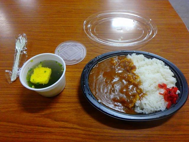頂上富士館 夕食のカレー