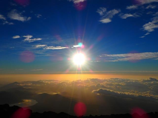 富士山山頂からのご来光
