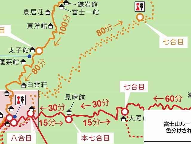 吉田ルート下山道(下りルート) 八合目~七合目