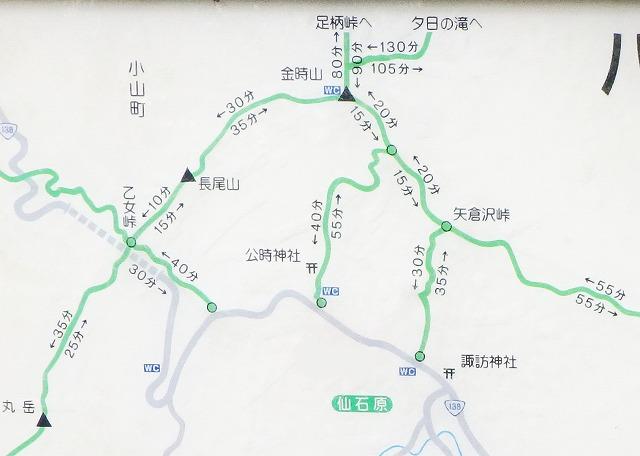 金時山、箱根方面からの登山・ハイキングルート