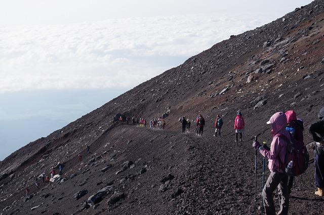 須走ルートの登山道の写真73