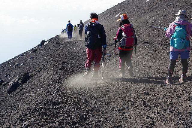 須走ルートの登山道の写真75