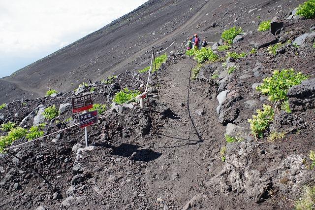 須走ルートの登山道の写真77