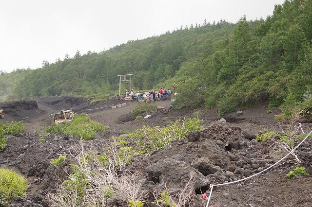 須走ルートの登山道の写真84